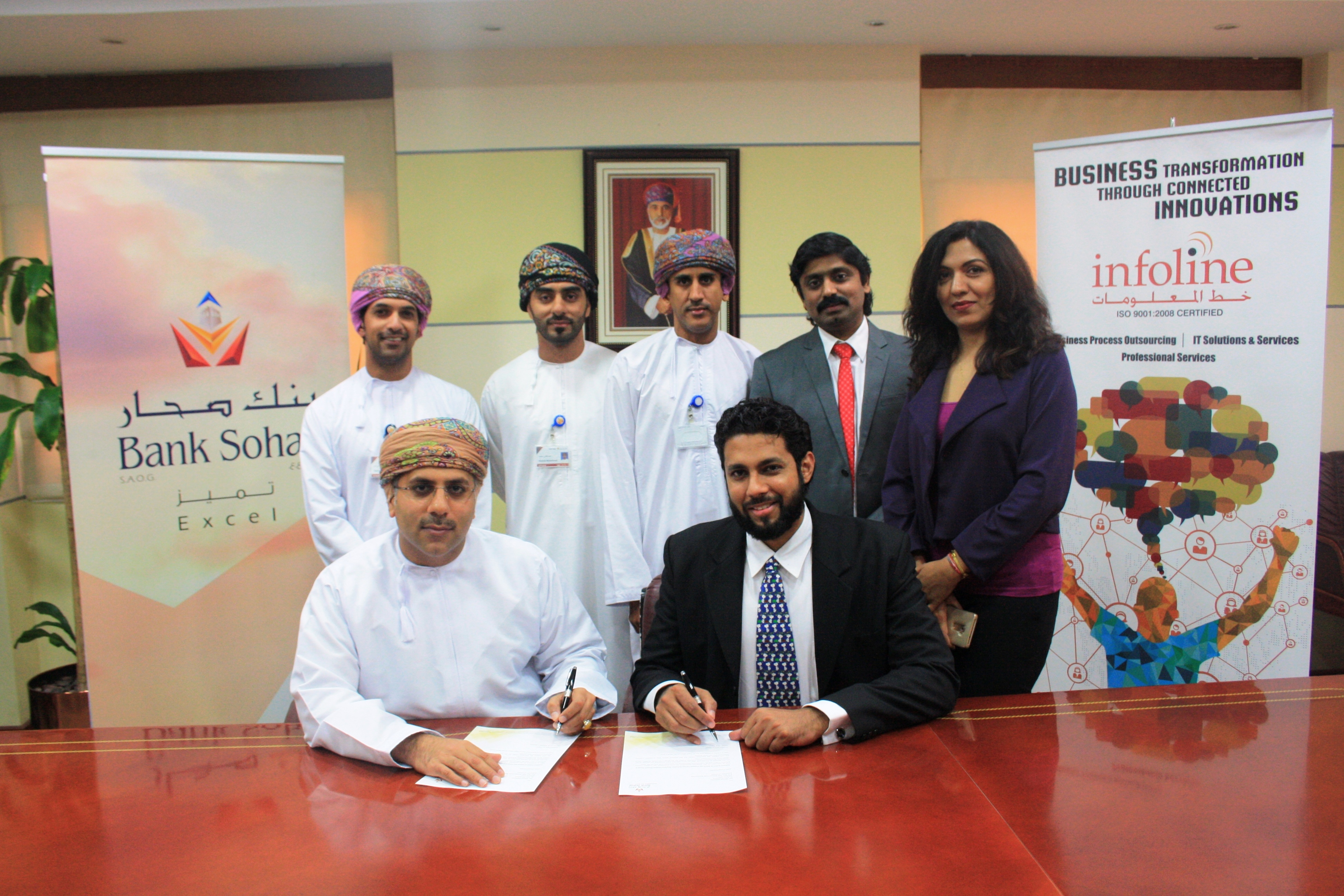 Bank Sohar signs pact with Infoline to upgrade their Contact Centre